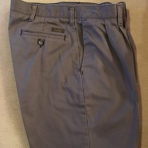 Lee Men's Gray pants Size 34X30 Pleated front